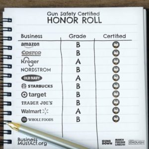 Gun Safety Certified honor roll