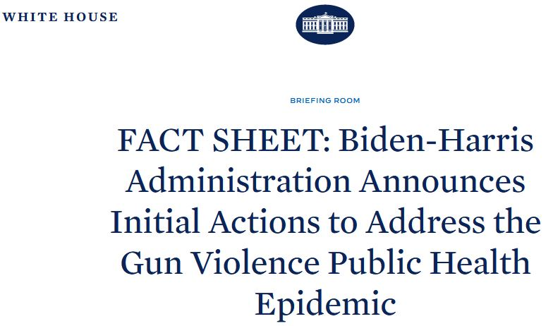 Gun Violence Prevention Measures — From the White House, Yet!